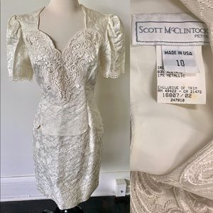 Vintage Scott McClintock Brocade Dress